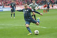 Franck Ribery (Bayern) zieht ab - 1. FSV Mainz 05 vs. FC Bayern München, Coface Arena, 26. Spieltag