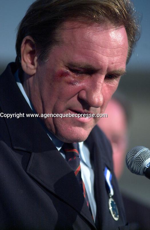 Gerard Depardieu, <br /> at the 2002 World Film Festival -<br /> au Festival des Films du Monde 2002<br /> <br /> photo : (c)  Images Distribution