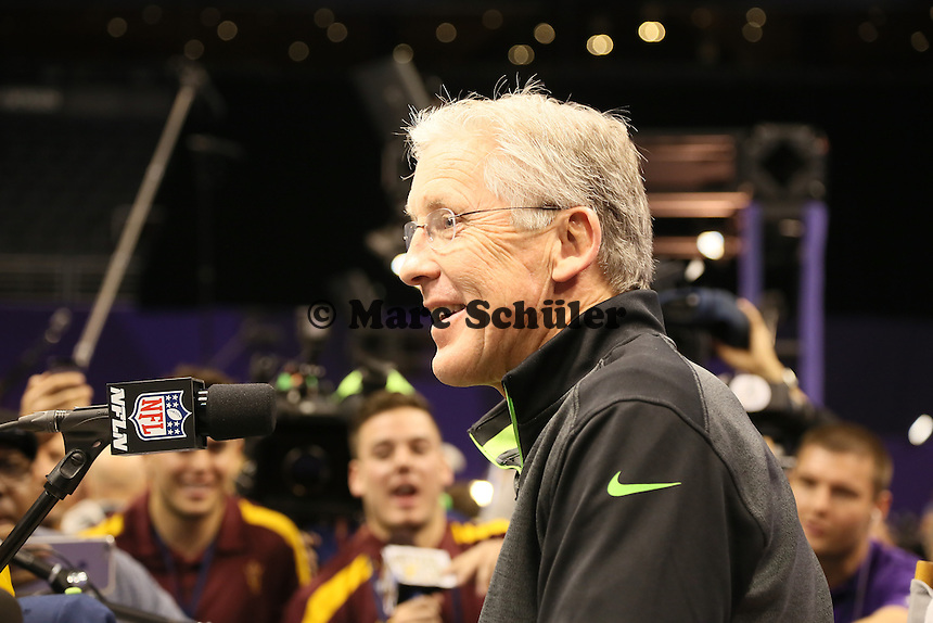 Head Coach Pete Carroll (Seattle) - Super Bowl XLIX Media Day, US Airways Center, Phoenix