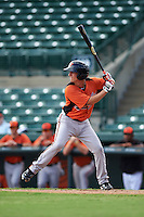 Baltimore Orioles Branden Becker (27) during an instructional league game against the Minnesota Twins on September 22, 2015 at Ed Smith Stadium in Sarasota, Florida.  (Mike Janes/Four Seam Images)