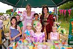 Kate O'Regan, Abbey Crowley, Ava Lyons, Carrie Ann Ahern, Maria Sami, Eoin Crowley, Maeve O'Leary (Princess Maeve) and Susan Enrigh  at the Enchanted Fairy Festival in Kilflynn on Sunday