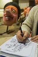 Europe/France/Provence-Alpes-Côte d'Azur/06/Alpes-Maritimes/Nice: Eric Dubreil directeur artistique du Carnaval  à La Maison du Carnaval - Atelier de fabrication des chars