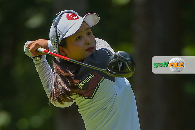 Hye-Jin Choi (KOR) watches her tee shot on 2 during round 1 of the U.S. Women's Open Championship, Shoal Creek Country Club, at Birmingham, Alabama, USA. 5/31/2018.<br /> Picture: Golffile   Ken Murray<br /> <br /> All photo usage must carry mandatory copyright credit (© Golffile   Ken Murray)