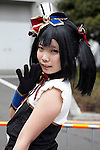 """A cosplayer poses for a picture during Anime Japan 2015 on March 21, 2015 in Tokyo, Japan. Anime Japan 2015 brings together all aspects of the """"anime"""" industry offering an opportunity for visitors get close to creators, voice actors, idol groups, and cosplayers, and to learn about the industry. This is the second year that the exhibition is being held at Tokyo Big Sight. Organizers estimated that approximately 100,000 visitors attended in 2014 and similar huge numbers are expected this year. The exhibition is open on March 21st and 22nd. (Photo by Rodrigo Reyes Marin/AFLO)"""