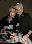 Cloris Leachman (mom to Morgan Englund - GL) poses with life long friend Shirley Jones at the Chiller Theatre Spring Extravaganza was held on April 27, 2014 at the Parsippany Sheraton Hotel in Parsippany, New Jersey.  (Photo by Sue Coflin/Max Photos)