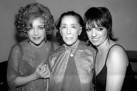 Liz Taylor Martha Graham Liza Minelli<br /> Photo By Adam Scull/PHOTOlink.net