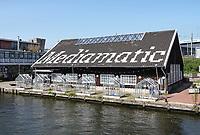 Nederland - Amsterdam -  21 april 2018. Oosterdok. Kassen bij Mediamatic.  Foto Berlinda van Dam / Hollandse Hoogte