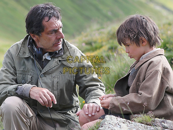 Nicolas Vanier (Director), Felix Bossuet<br /> on the set of Belle and Sebastian (2013) <br /> (Belle et Sebastien)<br /> *Filmstill - Editorial Use Only*<br /> CAP/NFS<br /> Image supplied by Capital Pictures