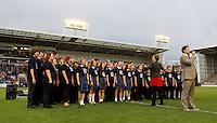 PICTURE BY VAUGHN RIDLEY/SWPIX.COM - Rugby League - 2013 International Origin - England v Exiles - Halliwell Jones Stadium, Warrington, England - 14/06/13 - Prematch Entertainment.