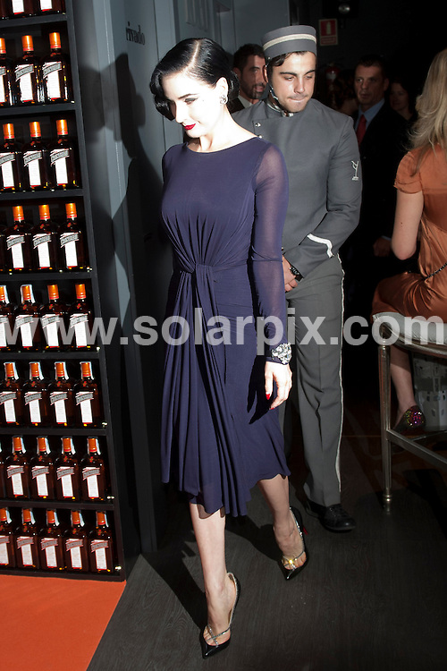 **ALL ROUND PICTURES FROM SOLARPIX.COM**                                             **WORLDWIDE SYNDICATION RIGHTS EXCEPT SPAIN - NO SYNDICATION IN SPAIN**                                                                                  Burlesque Model, Dita Von Teese launches her Travel Minibar By Cointreau at the Molina Lounge, Madrid.                                                                             This pic:      Dita Von Teese                                                                                        JOB REF:  14047     DMS Drake   DATE:   06.10.11                                                         **MUST CREDIT SOLARPIX.COM OR DOUBLE FEE WILL BE CHARGED**                                                                      **MUST AGREE FEE BEFORE ONLINE USAGE**                               **CALL US ON: +34 952 811 768 or LOW RATE FROM UK 0844 617 7637**