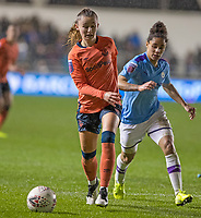 11th January 2020; Academy Stadium, Manchester, Lancashire, England; The FAs Women's Super League, Manchester City Women versus Everton Women; Hannah Cain of Everton Women is tracked by Demi Stokes of Manchester City Women   - Editorial Use