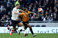 1st March 2020; Tottenham Hotspur Stadium, London, England; English Premier League Football, Tottenham Hotspur versus Wolverhampton Wanderers; Adama Traore of Wolverhampton Wanderers competes for the ball with Eric Dier of Tottenham Hotspur