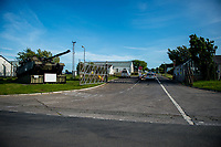 "Wednesday 14 June 2017<br /> Pictured: Views of the front of the training base <br /> Re: Paramedics and a fire crews are in attendance at what has been describes as an ""ongoing incident"" at a military training base in Pembrokeshire.<br /> The Welsh Ambulance Service said it was alerted to an incident at the Castlemartin firing range just before 15:30 BST on Wednesday.<br /> The range is owned by the Ministry of Defence (MOD) Live firing was due to take place at the range from Monday to Friday.<br /> Mid and West Wales Fire and Rescue Service is also in attendance.<br /> Castlemartin is the only UK Army range normally available for direct-fire live gunnery exercises and is used by Army, Army reserves and cadets.<br /> It is also used by civilian organisations and research establishments."
