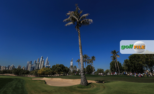View of the 6th during Round Three of the 2016 Omega Dubai Desert Classic, played on the Emirates Golf Club, Dubai, United Arab Emirates.  06/02/2016. Picture: Golffile | David Lloyd<br /> <br /> All photos usage must carry mandatory copyright credit (&copy; Golffile | David Lloyd)