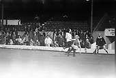 23/03/79 Blackpool v Shrewsbury Division 3..Derek Sence has a cross blocked in front of the West paddock....© Phill Heywood.