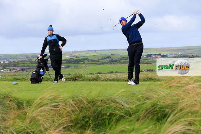 Peter O'Keeffe (Douglas) during the last 16 of the South of Ireland from Lahinch golf club, Lahinch, Co. Clare, Ireland. <br /> Picture: Fran Caffrey / Golffile