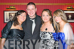 HUNT BALL: Enjoying a great time at the North Kerry Harries Hunt Ball at the Meadowlands hotel on Friday l-r: Katie Mangan, Ian Stryker, Joanne Brosnan and Muiriosa Brosnan all from Knocknagoshel.