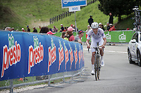 Bob Jungels (Lux/Etixx-Quickstep) pushing strong in his maglia blanco<br /> <br /> stage 15 (iTT): Castelrotto-Alpe di Siusi 10.8km<br /> 99th Giro d'Italia 2016