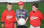 Stephen Murphy, Kieran Hicks and Dean Bradley winners in the U9 in the Drogheda Boys summer camp Sponsored by Coca Cola Atlantic. Picture Fran Caffrey