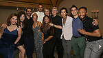 """Andrea Burns, Tessa Grady, Javier Munoz, Tilly Evans-Krueger, Christopher Jackson, Helen Hunt, Tracie Toms, David Garrison, Mateo Ferro, Daniel Ching and Malik Shabazz Kitchen attend the Opening Night performance afterparty for ENCORES! Off-Center production of """"Working - A Musical""""  at New York City Center on June 26, 2019 in New York City."""