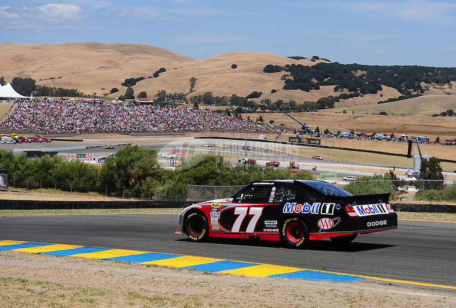 Jun. 20, 2010; Sonoma, CA, USA; NASCAR Sprint Cup Series driver Sam Hornish Jr during the SaveMart 350 at Infineon Raceway. Mandatory Credit: Mark J. Rebilas-