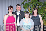 William, Caroline Murray, Debbie Fleming, and Grace Murray Farranfore all dressed up at the Kerry Stars black tie ball in the Malton Hotel on Friday night