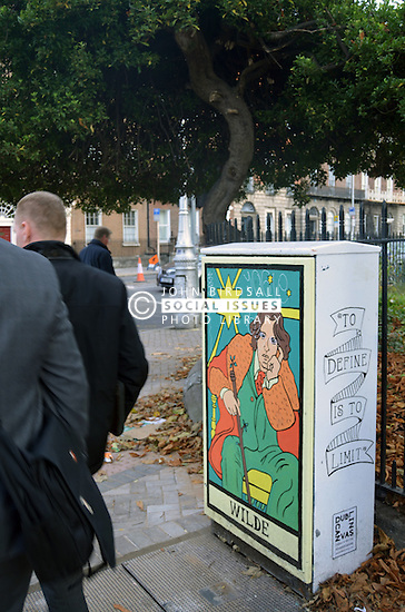 Oscar Wilde street art, Dublin Ireland