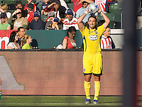 Columbus Crew defender Gino Padula. Chivas USA defeated the Columbus Crew 2-1at Home Depot Center stadium in Carson, California on Sunday April 5, 2009.  .Photo by Michael Janosz/ isiphotos.com
