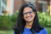 Dr. Huda Sharaf is the director of the University of Arkansas health clinic and is a member of the newly re-formed Fayetteville Health Board, reconfigured to study how the city can most safely navigate the post-covid-19 world. Dr Sharaf is seen here Monday July 13, 2020. Visit nwaonline.com/200705Daily/ for photo galleries. (NWA Democrat-Gazette/J.T. Wampler)