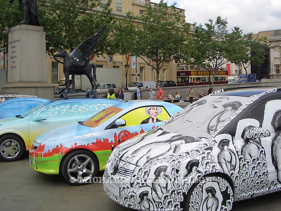 "Launch of ""Exhibit V"" Art Cars in Trafalgar Square, June 2006"