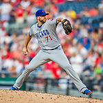 29 June 2017: Chicago Cubs pitcher Wade Davis on the mound to record his 16th save of the season against the Washington Nationals at Nationals Park in Washington, DC. The Cubs rallied to defeat the Nationals 5-4 and split their 4-game series. Mandatory Credit: Ed Wolfstein Photo *** RAW (NEF) Image File Available ***