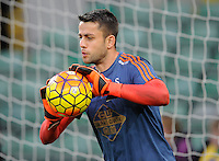Swansea City Goalkeeper Lukasz Fabianski during the Barclays Premier League match between Norwich City and Swansea City played at Carrow Road, Norwich on November 7th 2015