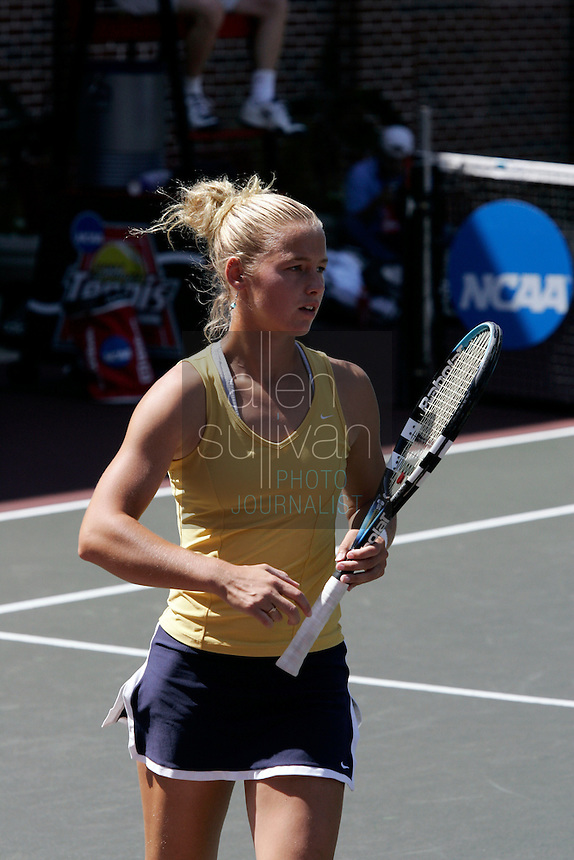 Georgia Tech's Kristi Miller during her doubles match with Whitney McCray against Notre Dame during the NCAA Division 1 Tennis Championships quarterfinals in Athens, Ga. on Sunday, May 20, 2007.