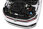 Car stock 2018 Volkswagen Polo GTI 5 Door Hatchback engine high angle detail view