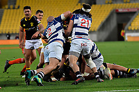Mitre 10 Cup - Wellington v Auckland at Westpac Stadium, Wellington, New Zealand on Thursday 4 October 2018. <br /> Photo by Masanori Udagawa. <br /> www.photowellington.photoshelter.com