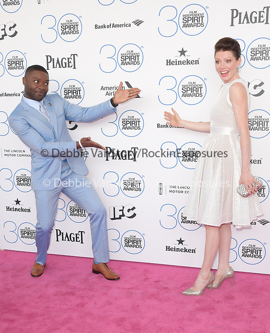 David Oyelowo and wife attends 2015 Film Independent Spirit Awards held at Santa Monica Beach in Santa Monica, California on February 21,2015                                                                               © 2015Hollywood Press Agency