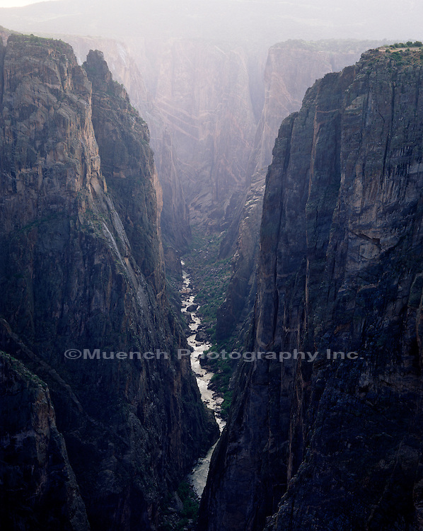 """North Rim, The Narrows and Gunnison River Black Canyon of the Gunnison National Park, COLORADO"""