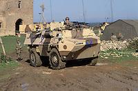- European military exercises in center Italy, French armored vehicle VAB for the infantry transport ....- Esercitazioni militari europee in Italia centrale, veicolo blindato francese VAB per il trasporto di fanteria
