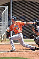 Houston Astros first baseman Jack Armstrong (83) during a minor league spring training game against the Detroit Tigers on March 21, 2014 at Osceola County Complex in Kissimmee, Florida.  (Mike Janes/Four Seam Images)
