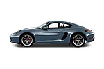 Car driver side profile view of a 2018 Porsche 718 Cayman S 2 Door Coupe