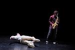 SANS PAROLES<br /> <br /> Chor&eacute;graphie et interpr&eacute;tation Laos<br /> Saxophone, danse et interpr&eacute;tation K&eacute;vin Th&eacute;ag&egrave;ne<br /> Cadre : Festival Suresnes Cit&eacute;s Danse 2016<br /> Date : 22/01/2016<br /> Lieu : Th&eacute;&acirc;tre de Suresnes Jean Vilar<br /> Ville : Suresnes<br /> &copy; Laurent Paillier / photosdedanse.com