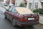 The car of Abdul, 51 Seaview Grove, Laytown which has been vandalized outside his home twice in the last week...Photo NEWSFILE/Jenny Matthews.(Photo credit should read Jenny Matthews/NEWSFILE)....This Picture has been sent you under the condtions enclosed by:.Newsfile Ltd..The Studio,.Millmount Abbey,.Drogheda,.Co Meath..Ireland..Tel: +353(0)41-9871240.Fax: +353(0)41-9871260.GSM: +353(0)86-2500958.email: pictures@newsfile.ie.www.newsfile.ie.FTP: 193.120.102.198.