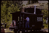 RGS caboose #0404 displayed at Colorado Railroad Museum.<br /> RGS  Golden, CO  ca. 1970