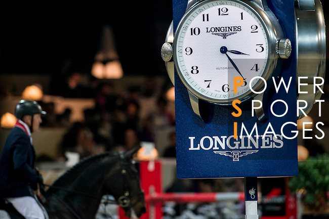 John Whitaker of United Kingdom rides Argento in action during the Longines Grand Prix as part of the Longines Hong Kong Masters on 15 February 2015, at the Asia World Expo, outskirts Hong Kong, China. Photo by Victor Fraile / Power Sport Images