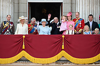 Camilla, Duchess of Cornwall; Prince Charles, Prince of Wales; HM Queen Elizabeth II &amp; Prince Philip, Duke of Edinburgh; Catherine, Duchess of Cambridge; Princess Charlotte; Prince George &amp; Prince William, Duke of Cambridge; Savannah &amp; Peter Phillips on the balcony of Buckingham Palace following the Trooping of the Colour Ceremony celebrating the Queen's official birthday. London, UK. <br /> 17 June  2017<br /> Picture: Steve Vas/Featureflash/SilverHub 0208 004 5359 sales@silverhubmedia.com