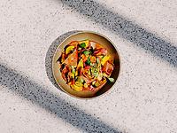 Atun Crudo at Corrida Restaurant in Boulder, Colorado, August 23, 2018.<br /> <br /> Photo by Matt Nager