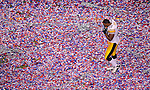 ARLINGTON, TX - FEBRUARY 6:  A general view of #72 of the Pittsburgh Steelers of the Green Bay Packers against # of the Pittsburgh Steelers during Super Bowl XLV on February 6, 2011 in Dallas, Texas. (Photo by Donald Miralle) *** Local Caption ***