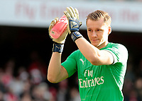 Arsenal's Bernd Leno applauds the home fans before kick off<br /> <br /> Photographer David Shipman/CameraSport<br /> <br /> The Premier League - Arsenal v Burnley - Saturday 22nd December 2018 - The Emirates - London<br /> <br /> World Copyright © 2018 CameraSport. All rights reserved. 43 Linden Ave. Countesthorpe. Leicester. England. LE8 5PG - Tel: +44 (0) 116 277 4147 - admin@camerasport.com - www.camerasport.com
