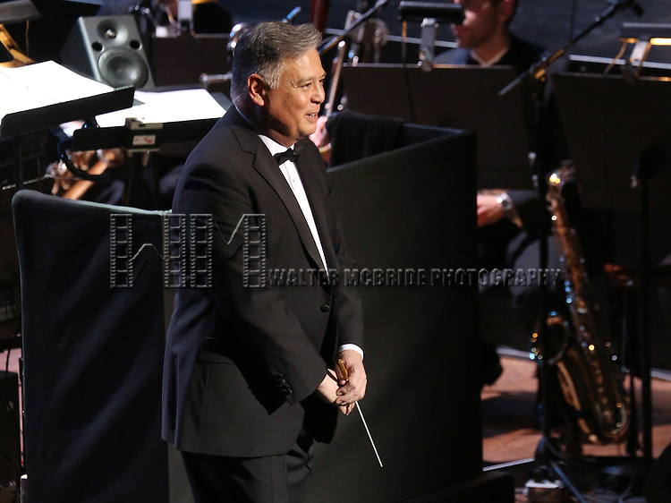 "Kevin Stites during the Manhattan Concert Productions 25th Anniversary concert performance of ""Crazy for You"" at David Geffen Hall, Lincoln Center on February 19, 2017 in New York City."