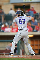Grand Junction Rockies Reese Berberet (22) at bat during a Pioneer League game against the Grand Junction Rockies at Dehler Park on August 15, 2019 in Billings, Montana. Billings defeated Grand Junction 11-2. (Zachary Lucy/Four Seam Images)